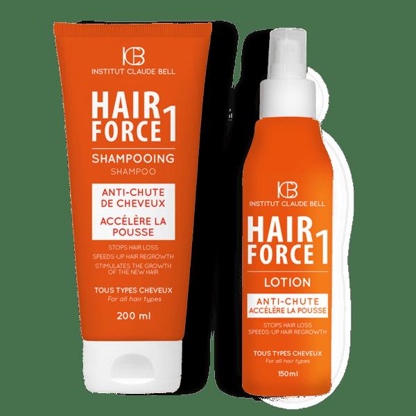 Hair Force komplet proti izpadanju las – šampon, losjon