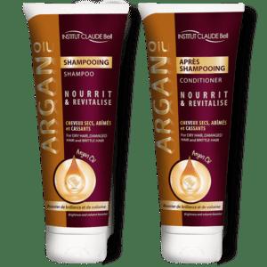 Komplet šampon in balzam Argan za svilnato lepe lase