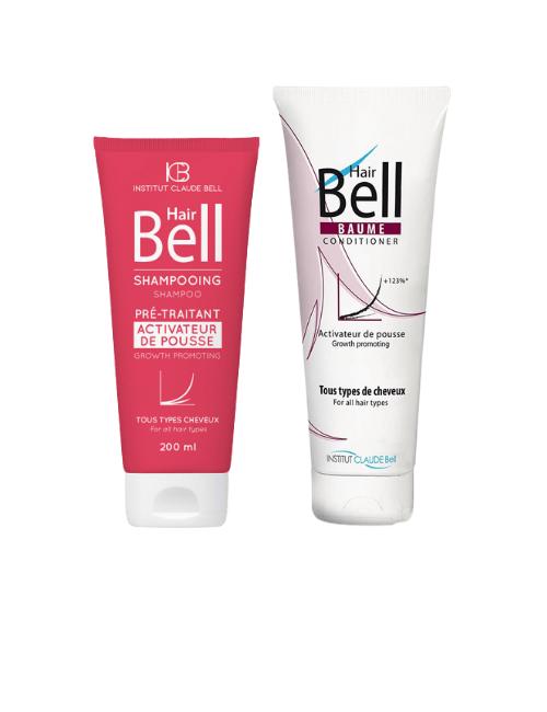 Komplet za hitrejšo rast las Hair Bell – šampon in balzam aktivator